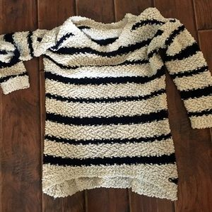 Charlotte Russe Navy & Cream Sweater!